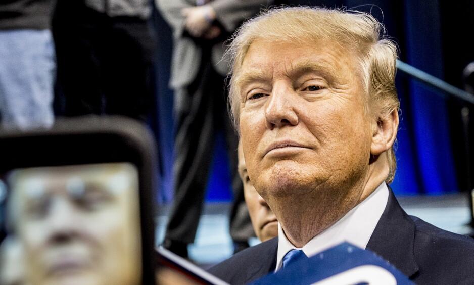 PRESIDENT: Her blir Donald Trump fotografert under valgkampen i fjor. Siden den gang synes flere og flere amerikanere at han gjør en dårlig jobb som president. Foto: Lars Eivind Bones / Dagbladet