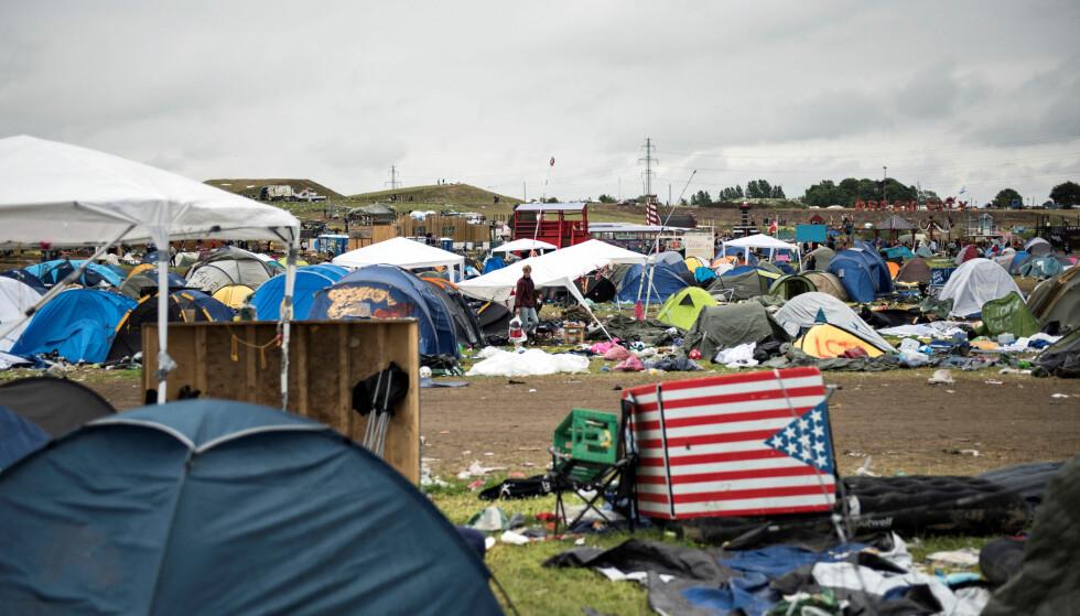 FORLATT: Det er ikke akkurat lite avfall å håndtere for festivalen. Foto: NTB Scanpix