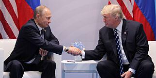 image: Trump før møtet med Putin: - En ære å være her med deg