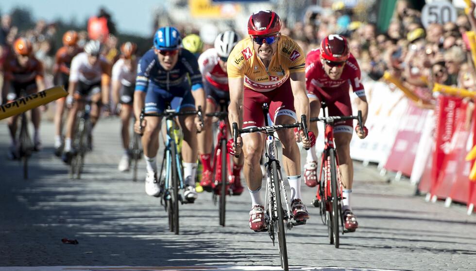 """FORTSATT MULIG? Alexander Kristoff vil være 35 år i 2022. Da ønsker Statoil å bringe Tour de France """"hjem"""" - til Stavanger. FOTO: Carina Johansen / NTB Scanpix"""