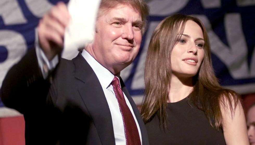 LANGVARIG FORHOLD: Melania, den gang Melania Knauss, sammen med Donald Trump i 1999. Foto: AP/ NTB scanpix