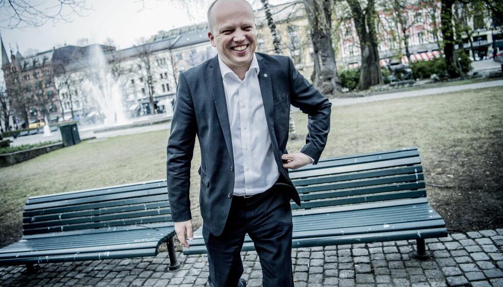 AVVISER: Sp-leder Trygve Slagsvold Vedum kjenner seg ikke igjen i kynisme-beskrivelsene fra statsminister Erna Solberg (H). Foto: Thomas Rasmus Skaug / Dagbladet