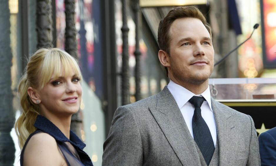 SKILLES: Etter åtte år som ektepar bestemte skuespillerduoen Anna Faris og Chris Pratt å skilles. Nå har de søkt om skilsmisse. Foto: NTB Scanpix