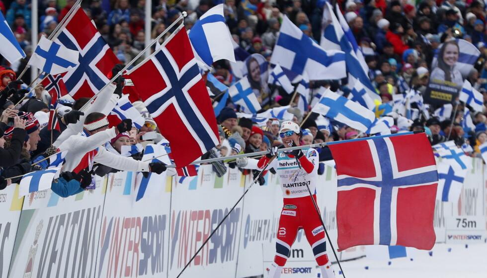 VIKTIG DAME: Marit Bjørgens VM-suksess samlet mange poeng til Norge. Som langrennsløper er hun mer enn bra nok til at utenlandske eksperter er imponert over kvaliteten på norsk toppidrett. FOTO: Lise Åserud / NTB scanpix