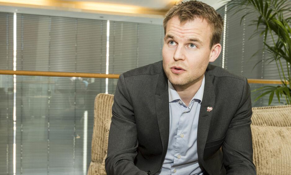 VIL ENDRE: Krfs finanspolitiske talsperson Kjell Ingolf Ropstad bekrefter at partiet vil endre sukkeravgiften. Foto: Ned Alley / NTB Scanpix