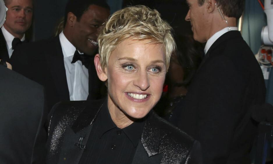 BLE MOBBET: Talkshowverten Ellen DeGeneres opplevde mobbing da hun kom ut av skapet i 1997. I et nyrlig intervju snakker hun ut om hva som egentlig skjedde. Foto: NTB Scanpix