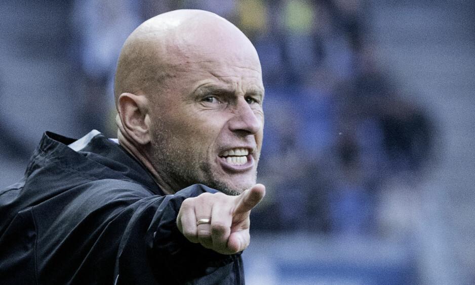 PÅ FJERDEPLASS: Ståle Solbakkens FCK ligger på fjerdeplass i det danske sluttspillet. Foto: Claus Bech / NTB scanpix