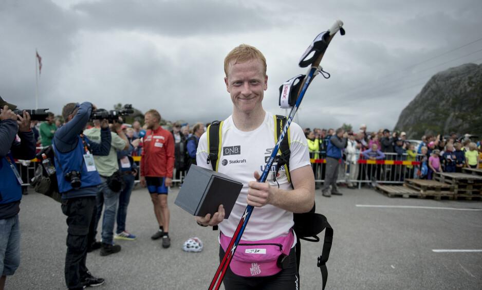 I RUTE: Landslaget i skiskyting, med Johannes Thingnes Bø i spissen, er klare for OL-sesongen. Foto: Carina Johansen / NTB Scanpix