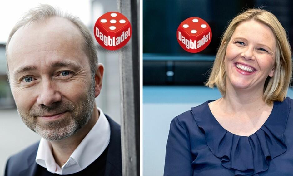 SELVSIKKER: Arbeiderpartiets nestleder Trond Giske sammen med kollega Hadia Tajik var best i den TV2-sendte debatten mot Frp-duoen Sylvi Listhaug og Per Sandberg.