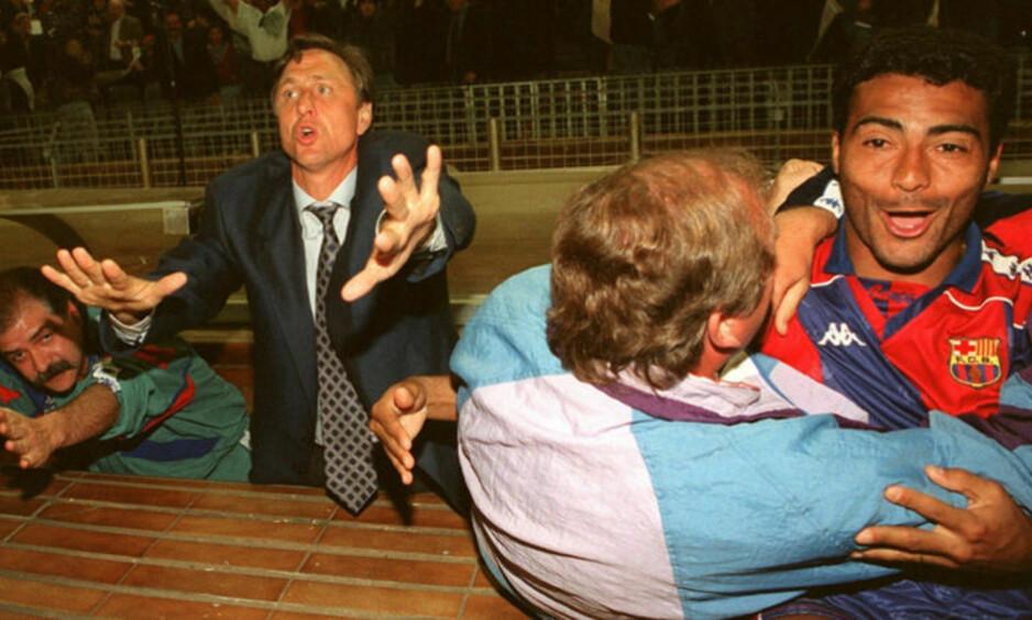 <strong>UTROLIG SPILLER:</strong> Romario (t.h.) var en av verdens beste spisser i Barcelona. Foto: FourFourTwo