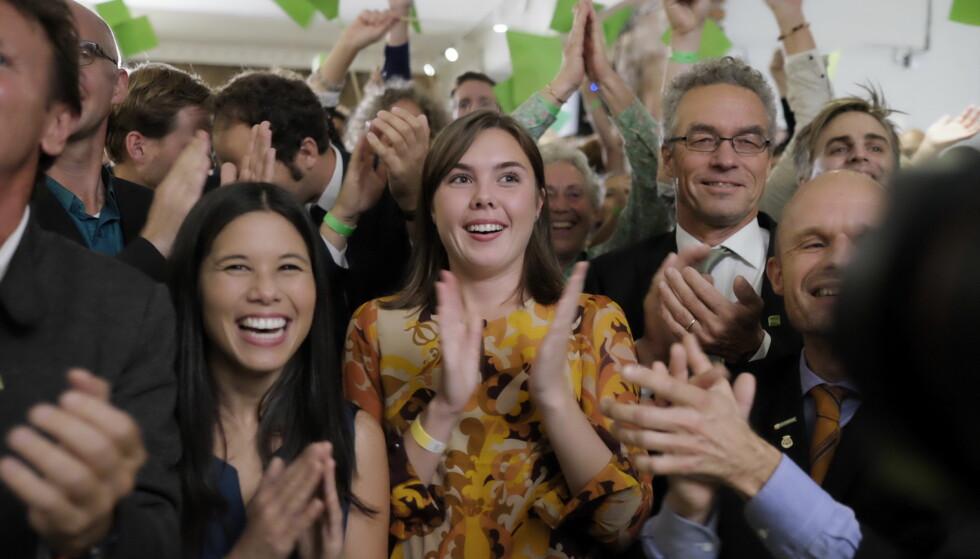 <strong>GODT VALG:</strong> MDG hadde et godt kommunevalg. Nå viser en måling oppgang for partiet. Foto: Ole Gunnar Onsøien / NTB scanpix