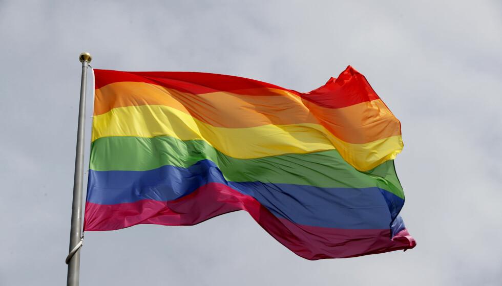 STOLT: I disse dager feires Oslo Pride for 36. gang. Mange deltar, men få kjenner den dramatiske historien bak den første paraden. Foto: Lise Åserud / NTB Scanpix