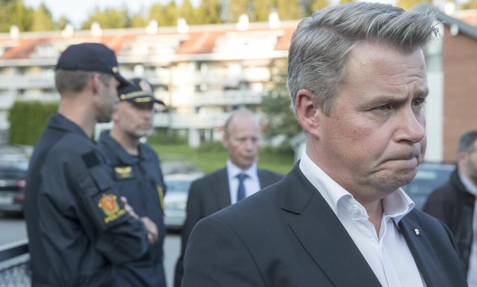 BEKLAGER: Justisminister Per-Willy Amundsen beklager kommentarer han kom med i et intervju med VG. Foto: Terje Pedersen / NTB scanpix