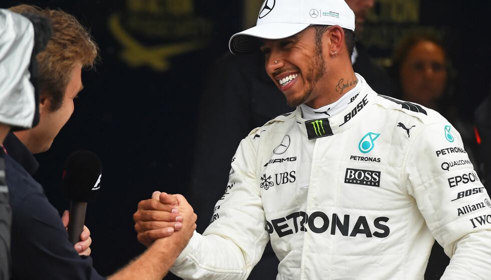 VANT I BAKU: Lewis Hamilton var både god og heldig da han vant i Baku søndag ettermiddag. Seieren fører han opp i ledelsen i VM-sammendraget. Foto: eel-fotografie/action press/REX/Shutterstock