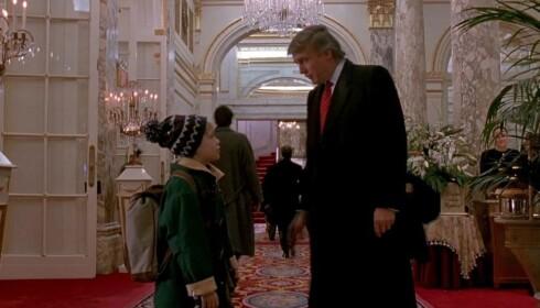 <strong>Plaza:</strong> Culkin og Trump i «Hjemme alene 2». Foto: screenshot