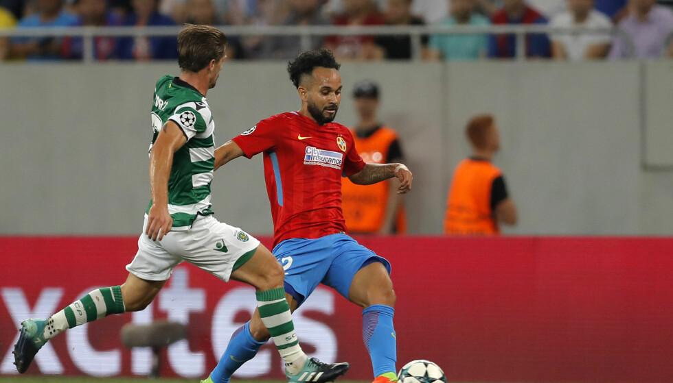 SIGNERTE FOR LEICESTER: Overgangen til Adrien Silva var tilsynelatende i orden. Men FIFA hevder nå de ikke hadde en avtale med Leicester likevel. Foto: AP Photo/Vadim Ghirda