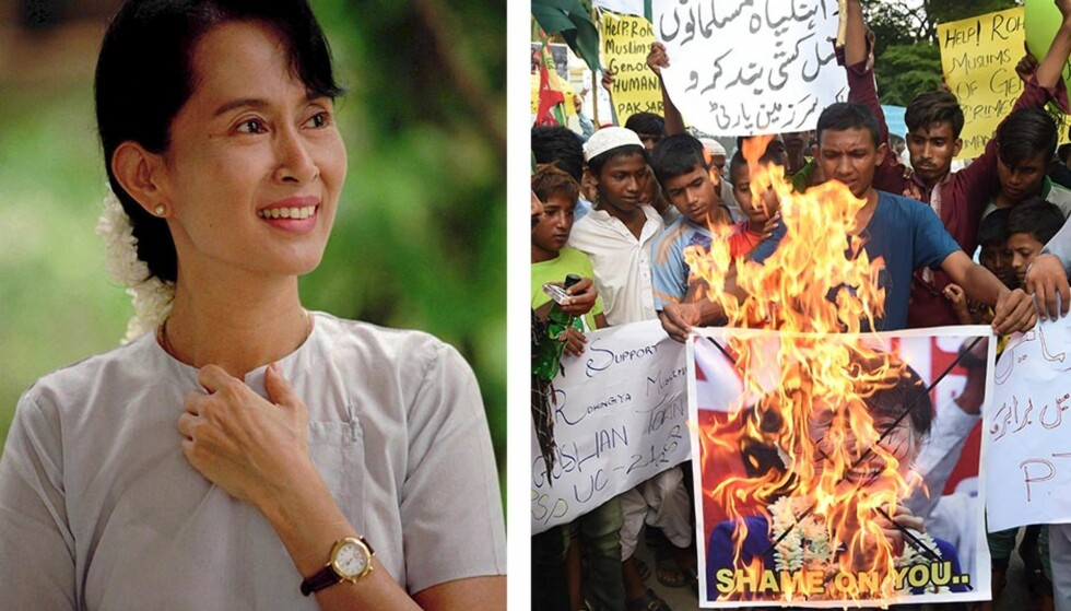 FÅR KRITIKK: Myanmars regjeringssjef Aung San Suu Kyi. Foto: AP / AFP PHOTO / ASIF HASSAN