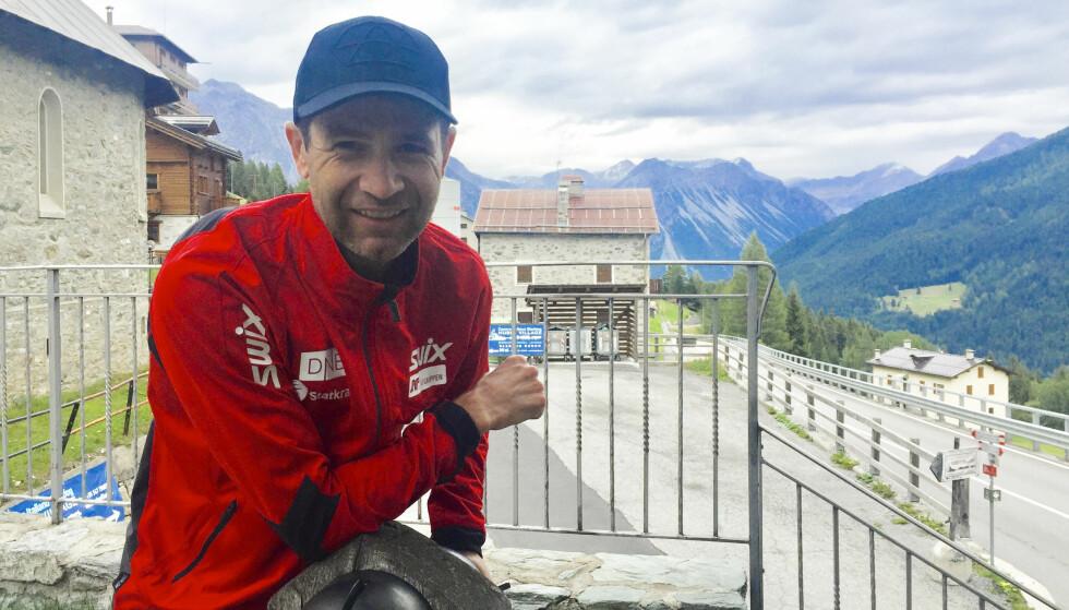 <strong>PÅ HØYDEOPPHOLD:</strong> Ole Einar Bjørndalen møtte NTB på høydeopphold i Italia. Der snakket han blant annet om papparollen. Foto: Espen Hartvig / NTB scanpix