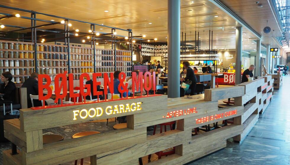 <strong>FLYPLASSFILIAL:</strong> Bølgen &amp; Moi Food Garage byr på små og store retter i et tiltalende miljø.