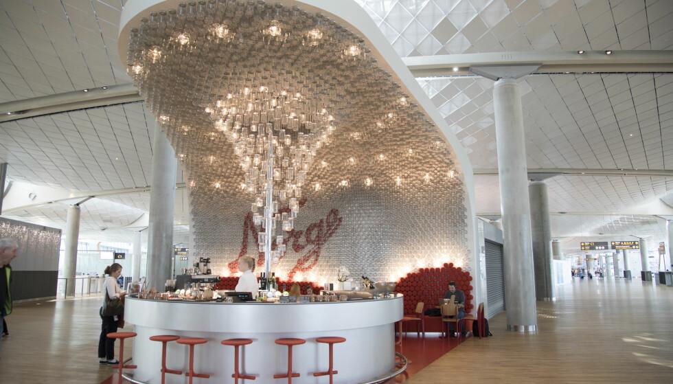 <strong>PERLE:</strong> Den spektakulære baren Norgesglasset et tegnet av Snøhetta, og byr på et drinker og et lite utvalg mat.