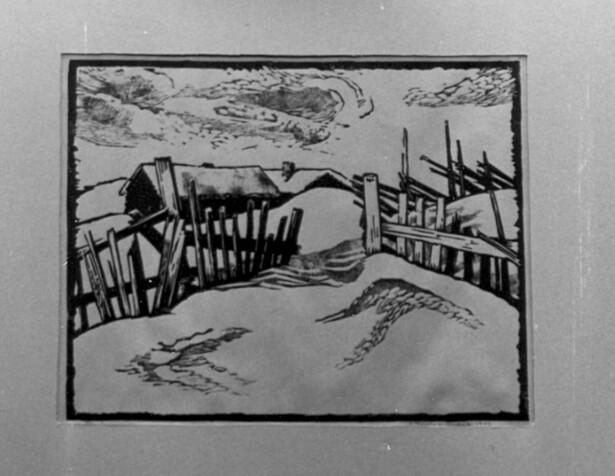 SNØDEKT: Grafikk av Aubert J. Thaulow er blant bildene som er borte. FOTO: Kulturetaten