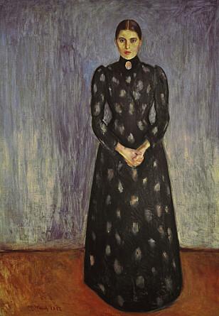 MUNCHS SØSTER: Et bilde malt av Inger Munch, søsteren til verdenskjente Edvard Munch, er også på listen over kunst med status «ikke funnet». Her er hun foreviget i et maleri av Edvard Munch.