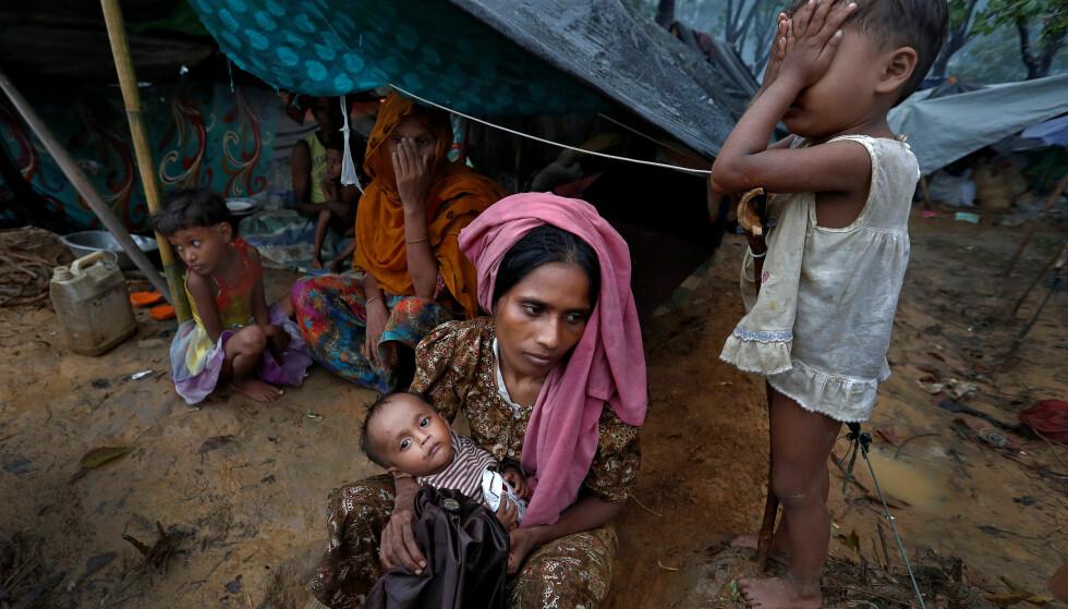 HUMANITÆR KATASTROFE: Gravide og fødende flyktninger lider under kritiske tilstander på grensen til Myanmar og Bangladesh. Foto: REUTERS/ Cathal McNaughton/ NTB Scanpix