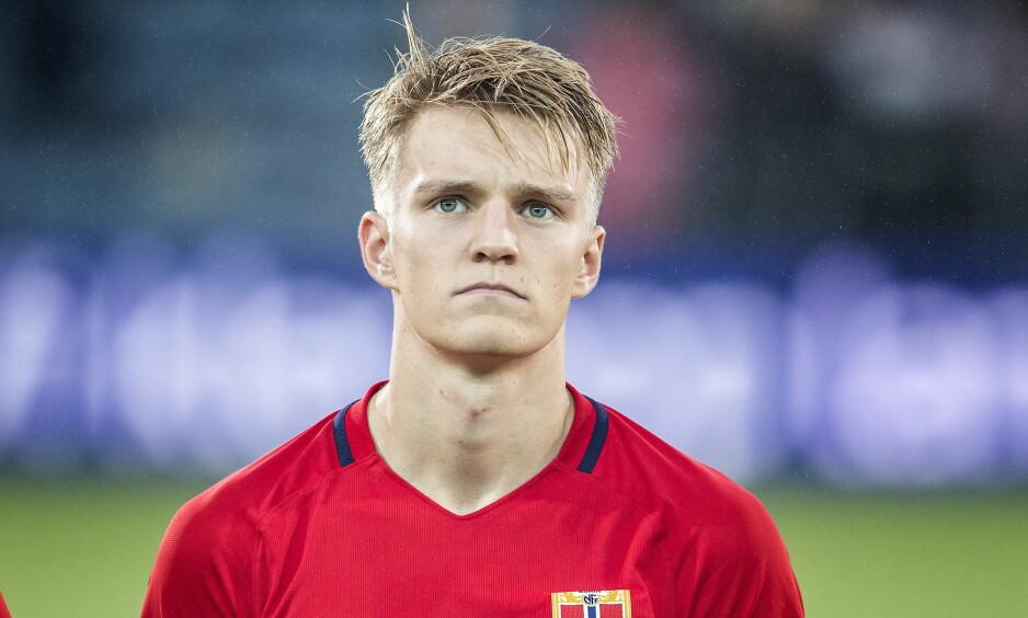 RETT INN PÅ LAGET: Martin Ødegaard får tillit fra start mot Makedonia. Foto: Hans Arne Vedlog / Dagbladet