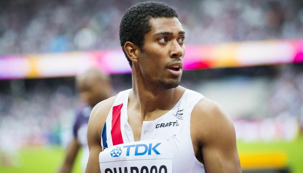 VISTE FORM: Jonathan Quarcoo løp inn på tiden 20,69 på 200 meter. Det er under EM-kravet. Foto: Heiko Junge / NTB scanpix