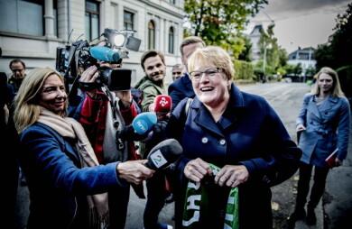 VELLYKKET TAKTIKK: Trine Skei Grande har de minst lojale velgerne, men ble reddet av tidligere Høyre-velgere. Foto: Thomas Rasmus Skaug