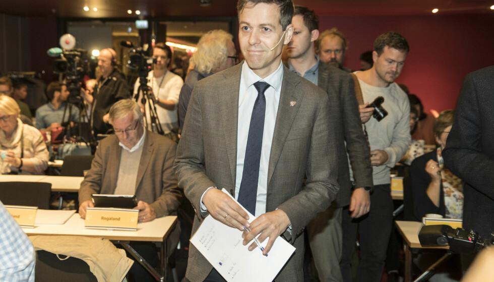 KREVER HANDLINGSPLAN: KrF og partileder Knut Arild Hareide ønsker en handlingsplan mot vold mot kvinner. Foto: Vidar Ruud / NTB scanpix
