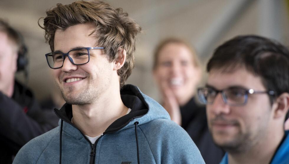 REMIS: Magnus Carlsen delte poenget med Vishy Anand mandag. Foto: Carina Johansen / NTB scanpix