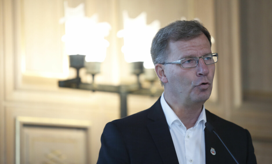 Finansbyråd Robert Steen (Ap) presenterte i dag byrådets budsjettforslag for Oslo kommune for 2018. Foto: Torstein Bøe / NTB scanpix