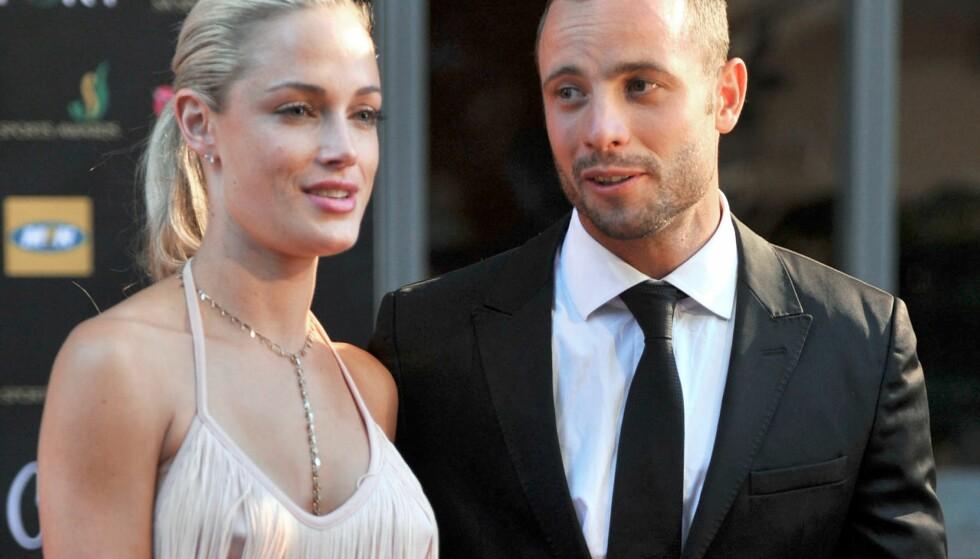 KJÆRESTER: Reeva Steenkamp og Oscar Pistorius var kjærester. Foto: AFP PHOTO / LUCKY NXUMALO