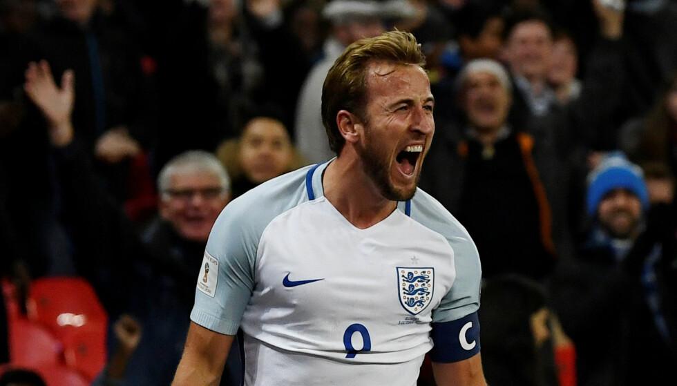 NY KAPTEIN: Harry Kane har fått ansvaret med å lede England i årets fotball-VM. Foto: REUTERS/Dylan Martinez