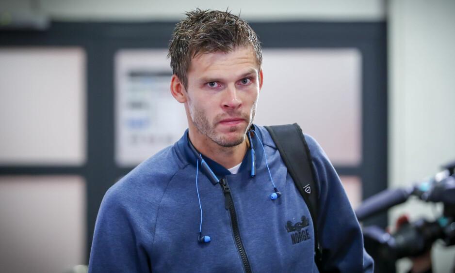GLEDER SEG: Rune Almenning Jarstein og Norge forbereder EM-kvalifiseringen mot Spania lørdag. Foto: Heiko Junge / NTB scanpix