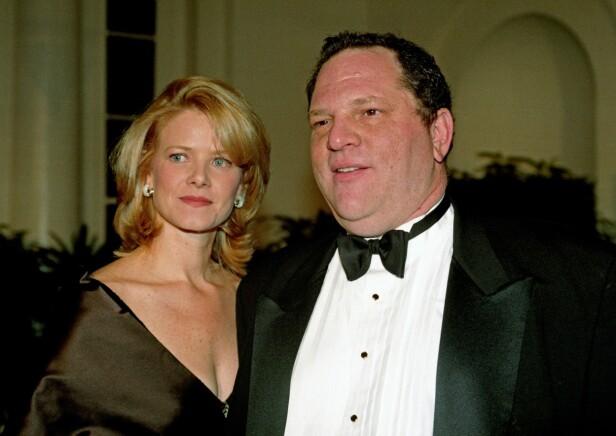 EKS-KONA: Harvey Weinstein sammen med eks-kona Eve Chilton i 1997. Foto: NTB Scanpix