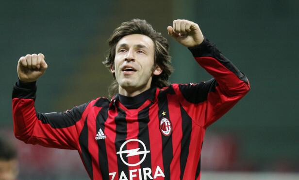 <strong>KLUBBIKON:</strong> Andrea Pirlo tilbrakte ti sesonger i AC Milan. Foto: AFP PHOTO / PACO SERINELLI / NTB Scanpix