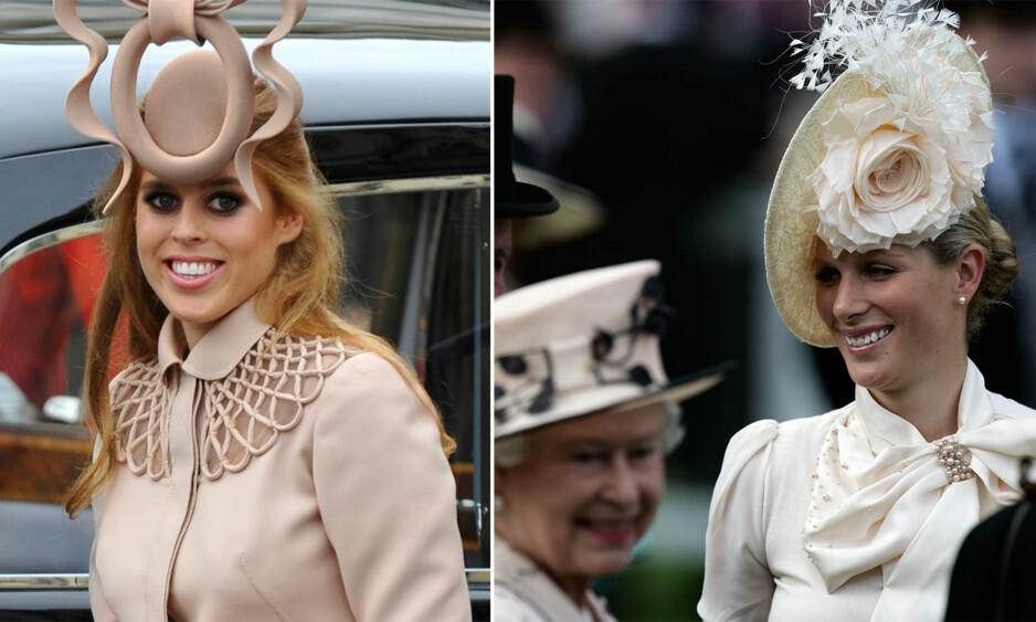 BARE ÉN PRINSESSE: Både prinsesse Beatrice (t.v.) og Zara Anne Elizabeth Tindall er barnebarn av dronning Elizabeth, men kun én av dem kan smykke seg med prinsessetittelen. Foto: NTB scanpix