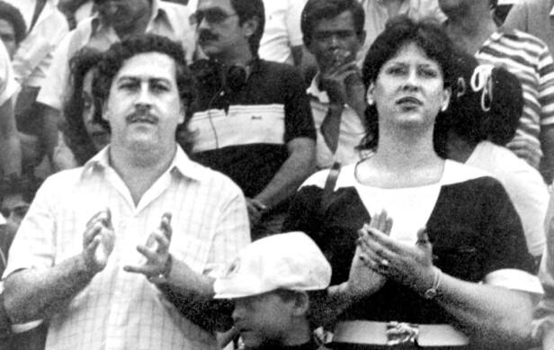 FAMILIEMANN: Pablo Escobar med kona Victoria. Foto: AP Photo/El Tiempo/NTB Scanpix