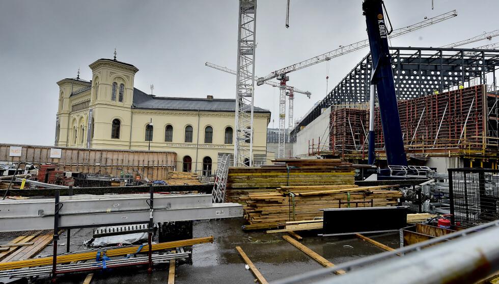DYRT: Det nye Nasjonalmuseet bygges nå på Vestbanetomta, og blir Norges dyreste kulturbygg. Foto: Hans Arne Vedlog / Dagbladet