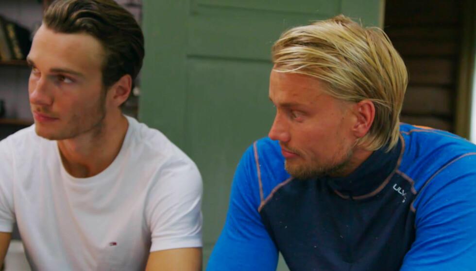 ORKET IKKE MER: Mats Beylegaard Brennemo forteller de andre deltakerne om sin beslutning i kveldens episode. Foto: TV 2