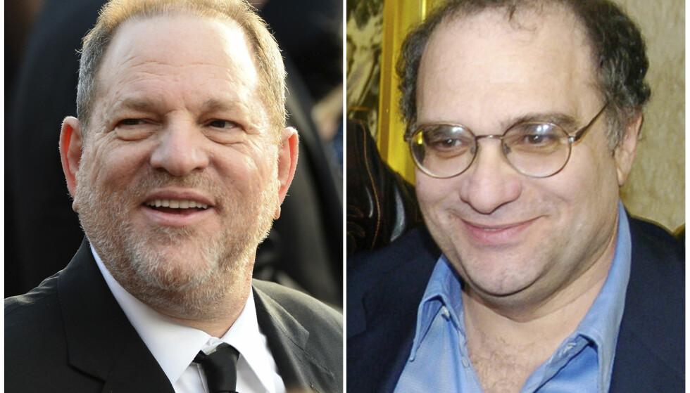 BRØDRE: Alle de alvorlige anklagene mot Harvey Weinstein (t.v) gjør at broren Bob skammer seg over at Harvey er broren hans. Foto: AP Photo / NTB scanpix