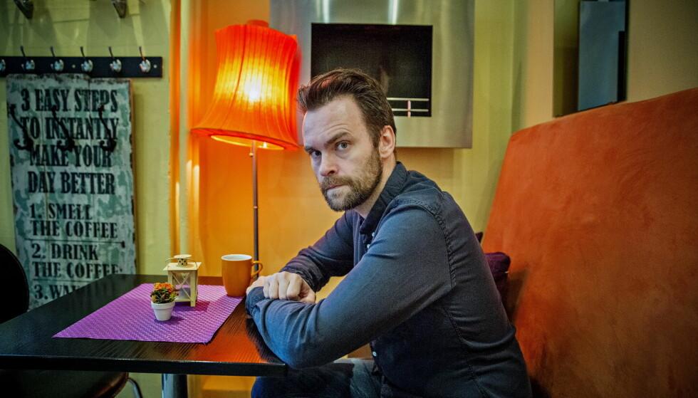 TV-DRAMA: Vidar Magnussen har skrevet nytt tv-drama for NRK, og skal selv spille hovedrollen som politietterforskeren Magnus Undredal.  Foto: Jørn H Moen