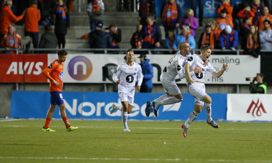 ETT POENG: AaFK er i trøbbel etter ett poeng på hjemmebane mot Kristiansund. Foto: Svein Ove Ekornesvåg / NTB scanpix
