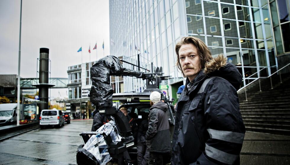 SPILLES INN: I filmen «Skjelvet» går et jordskjelv hardt utover Oslo. Skuespiller Kristoffer Joner har hovedrollen som geologen Kristian Ekjord.