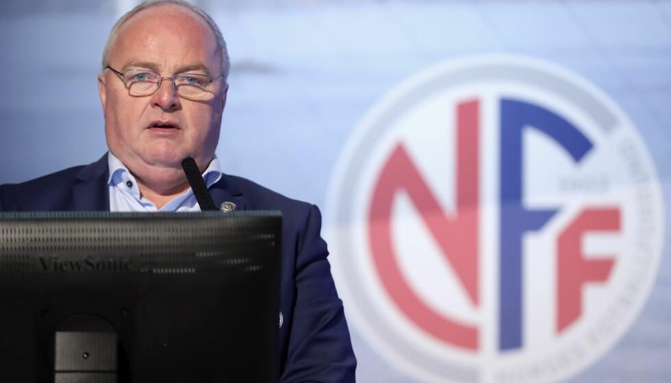 FÆRRE LAG: Fotballpresident Terje Svendsen vil se på tiltak for at kvinnefotballen skal bli bedre i Norge.Foto: Vidar Ruud / NTB scanpix