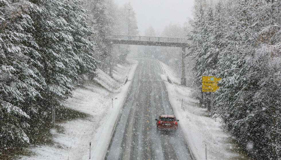 VINTER: Slik så det ut ved Rena i Hedmark i slutten av oktober. Nå er snøen så godt som borte. Vinteren er like rundt hjørnet, men i helga vil snøen falle på Vestlandet. Foto: Vidar Ruud / NTB scanpix