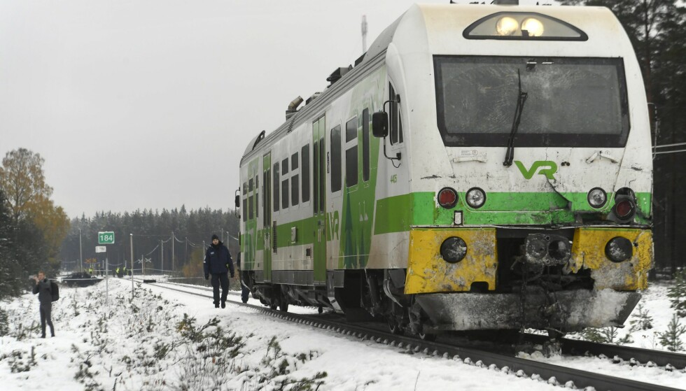 TOGULYKKE: Ifølge finsk politi er minst fire personer døde i en togulykke i Finland. Foto: Markku Ulander / Lehtikuva / NTB scanpix