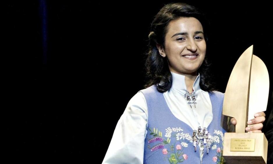 TILBAKE: I 2010 fikk hun Fritt Ord-prisen. Nå har Bushra Ishaq skrevet boka «Hvem snakker for oss? Muslimer i dagens Norge – hvem er de og hva mener de?»